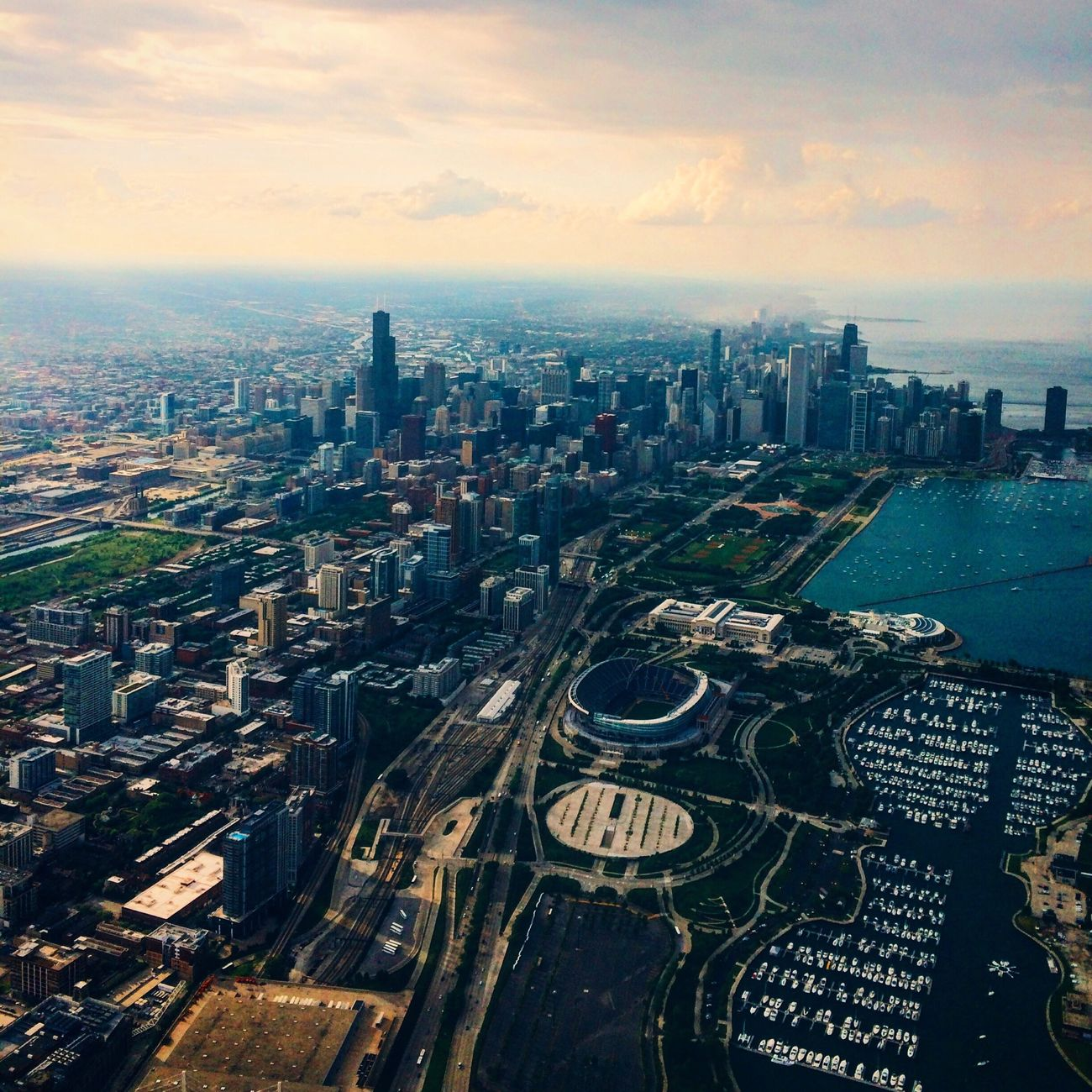 Aerial Shot Chicago SpiritAIR IPhoneography Thevintographer