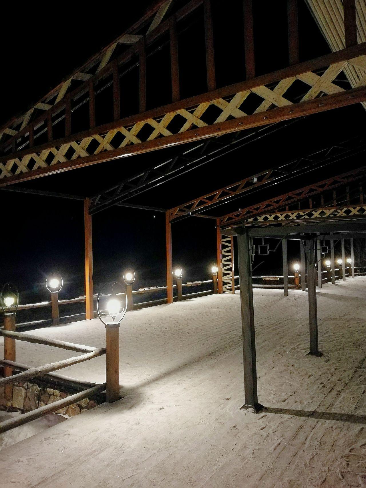 Illuminated Night Architecture No People