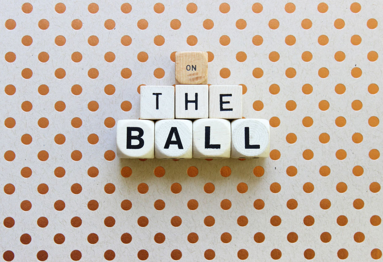 On the Ball Alertness Ball Close-up Idiom Knowledge No People Phrase Success