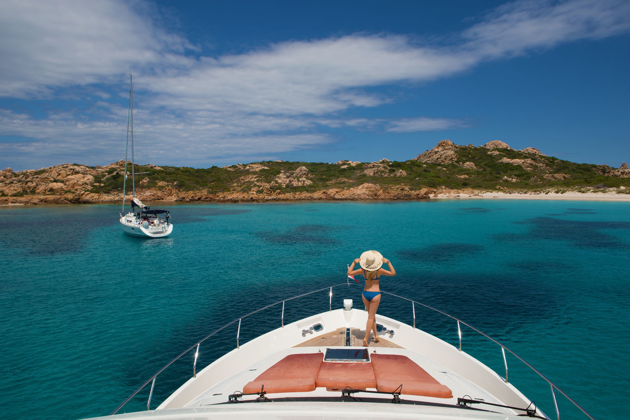 Beautiful stock photos of einhorn, Aegean Sea, Beauty In Nature, Bikini, Boat Deck