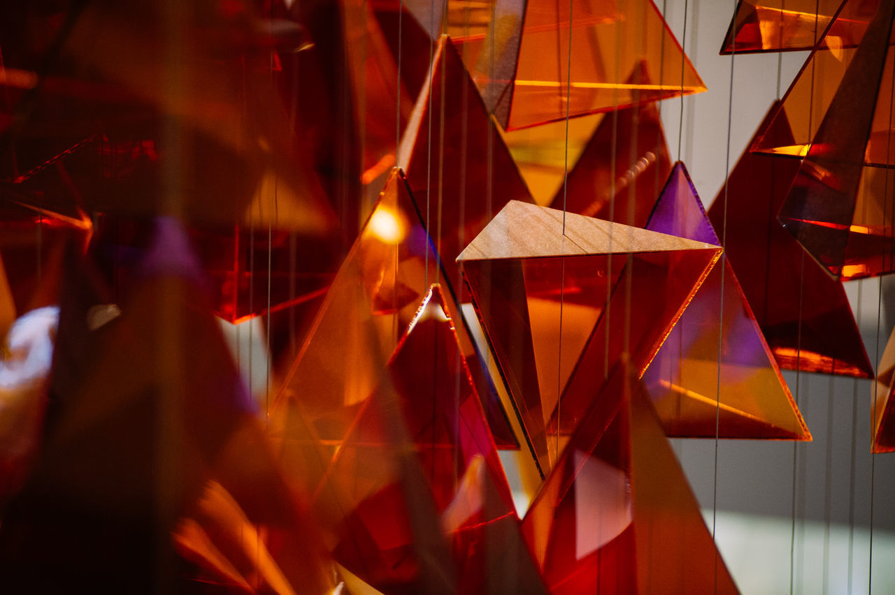 Decorations Illuminated Multi Colored Night No People Outdoors Red Shapes Triangles