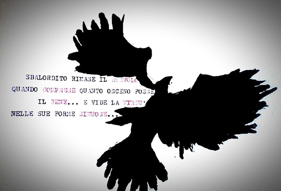 Nevermore. Crow The_Crow Silhouette Drawing Painting Writing Machine