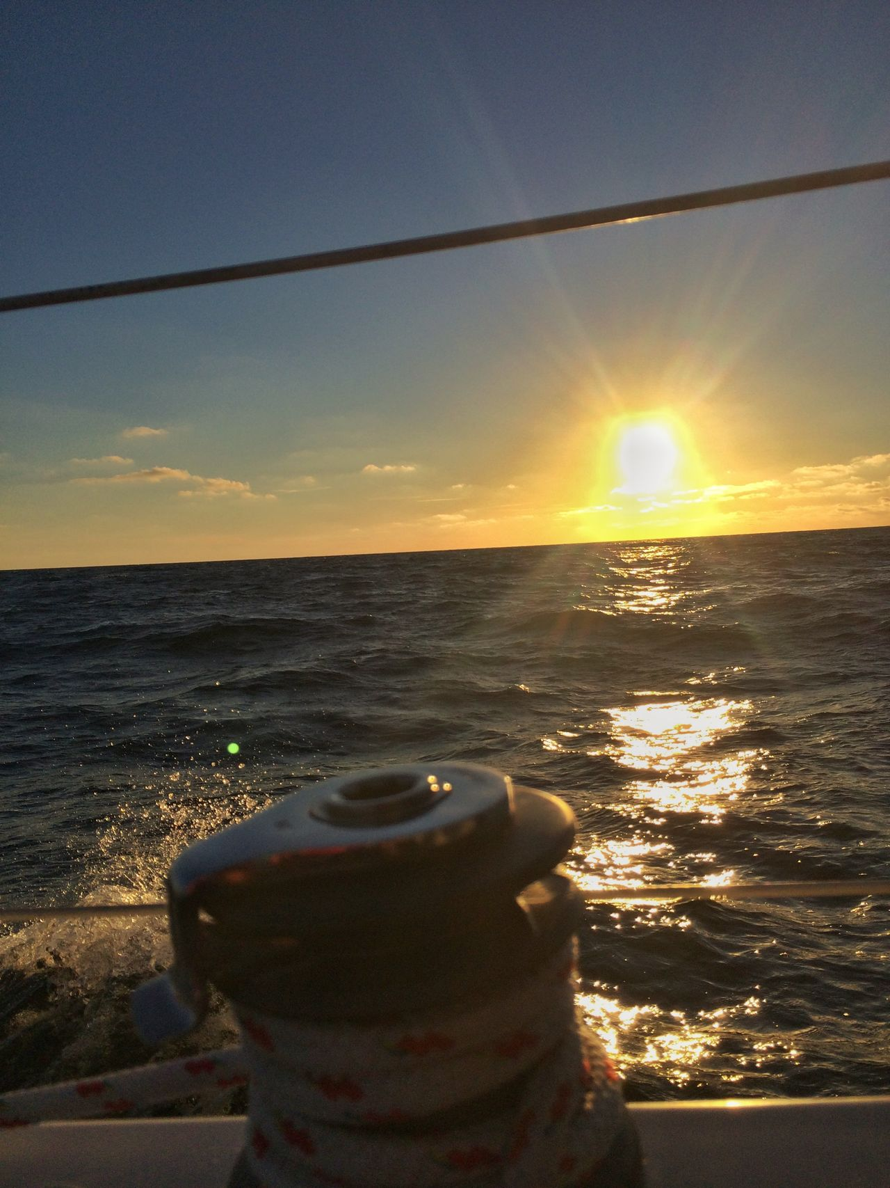 Going Sailing Sunset Baltic Sea on The way to Klaipeda PolLitLett2015