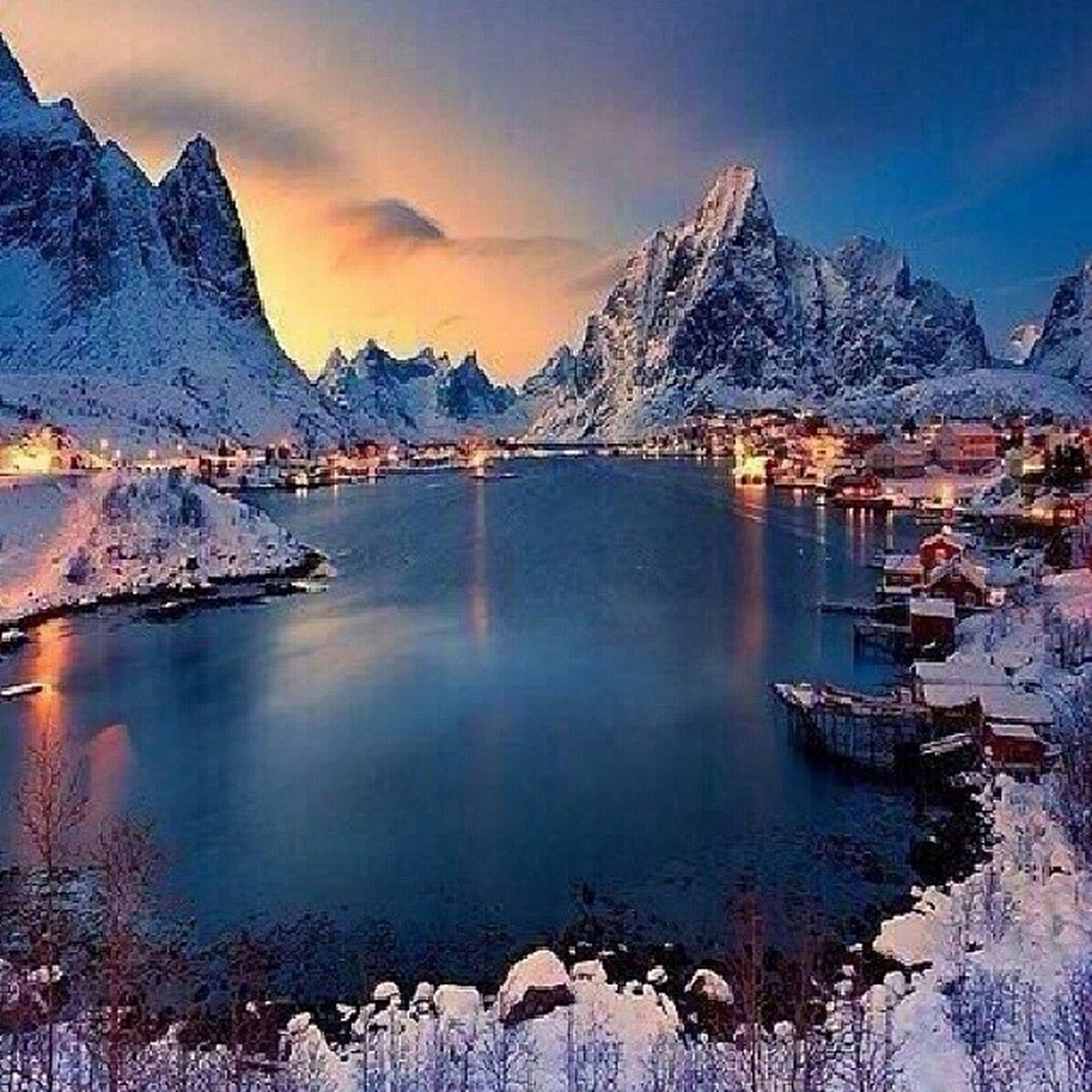 mountain, mountain range, water, winter, snow, cold temperature, scenics, sky, lake, tranquil scene, beauty in nature, snowcapped mountain, tranquility, reflection, season, nature, weather, panoramic, idyllic, cloud - sky
