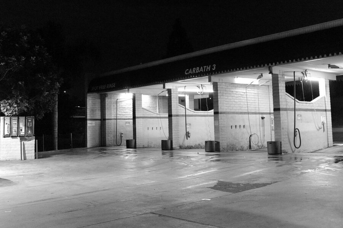 Self Serve Carwash B&w Pentax Kx Pentax K-x