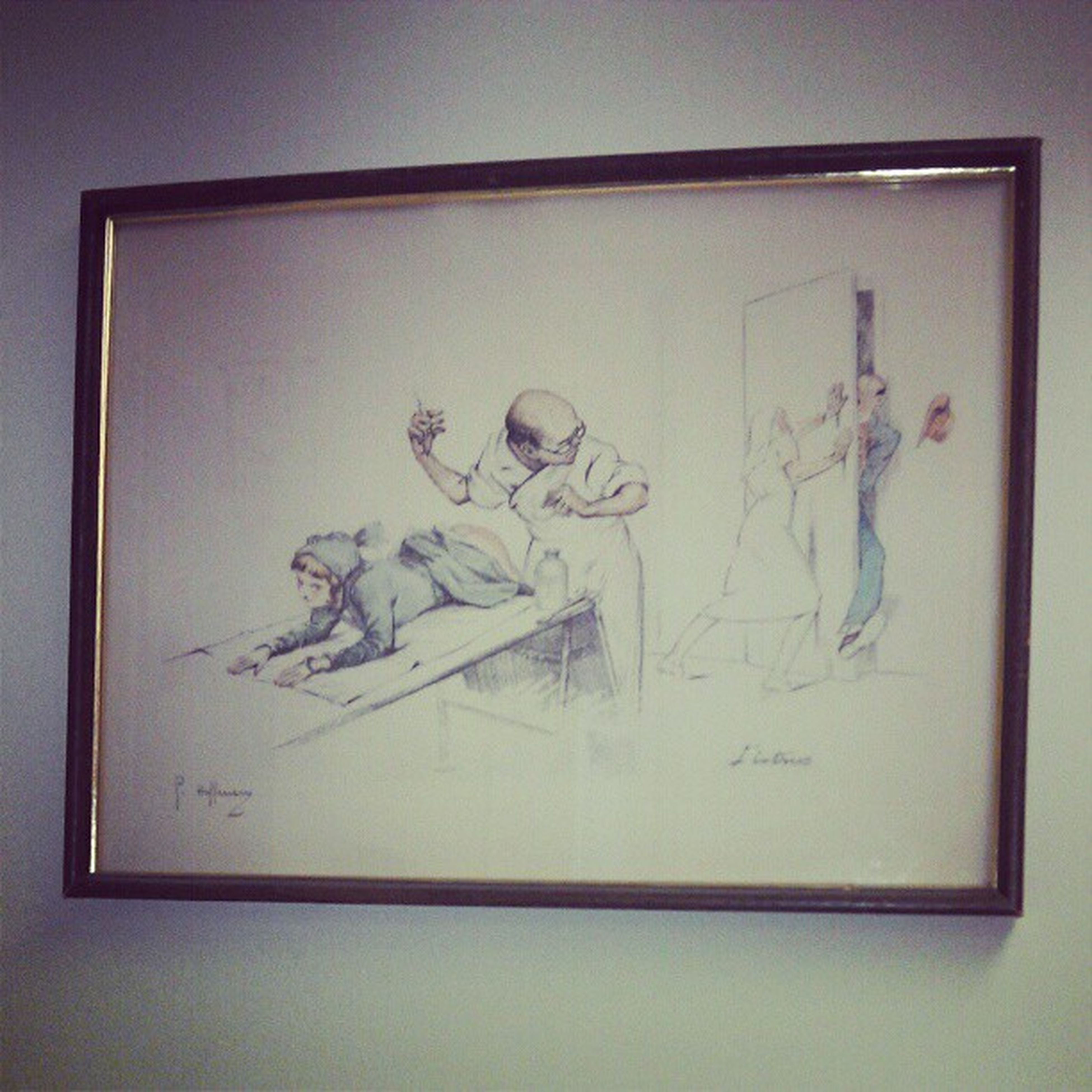 Saw this hanging up at the doctor's office...me and my boyfriend can't seem to figure it out. Wallart Picture DoctorsOffice DoctorsAppointment