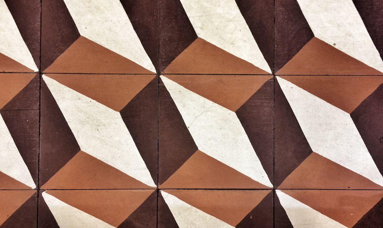backgrounds, geometric shape, pattern, full frame, textured, triangle shape, checked pattern, no people, indoors, close-up, day