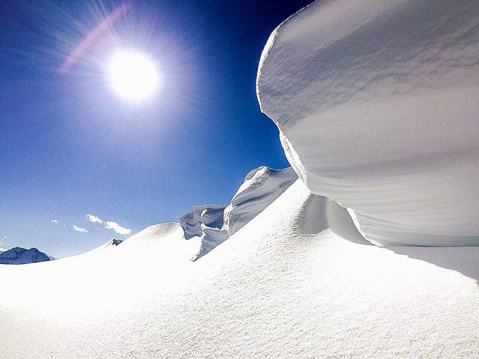 Creamy winter Snow Sun Nature Mountain Cold Cream Freezing