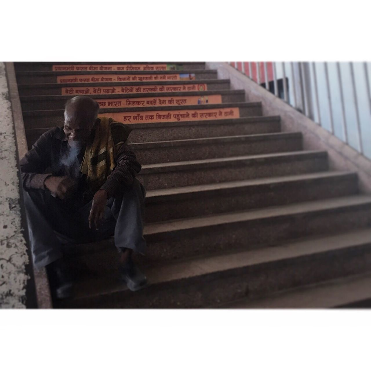 steps, two people, real people, steps and staircases, togetherness, men, full length, love, senior adult, day, women, outdoors, people