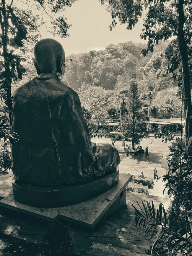 Spotted In Thailand Buddha Buddhism Religious Icons Chiang Mai Traveling Religion Statue Wat Phrathat Doi Monochrome Photography Miles Away