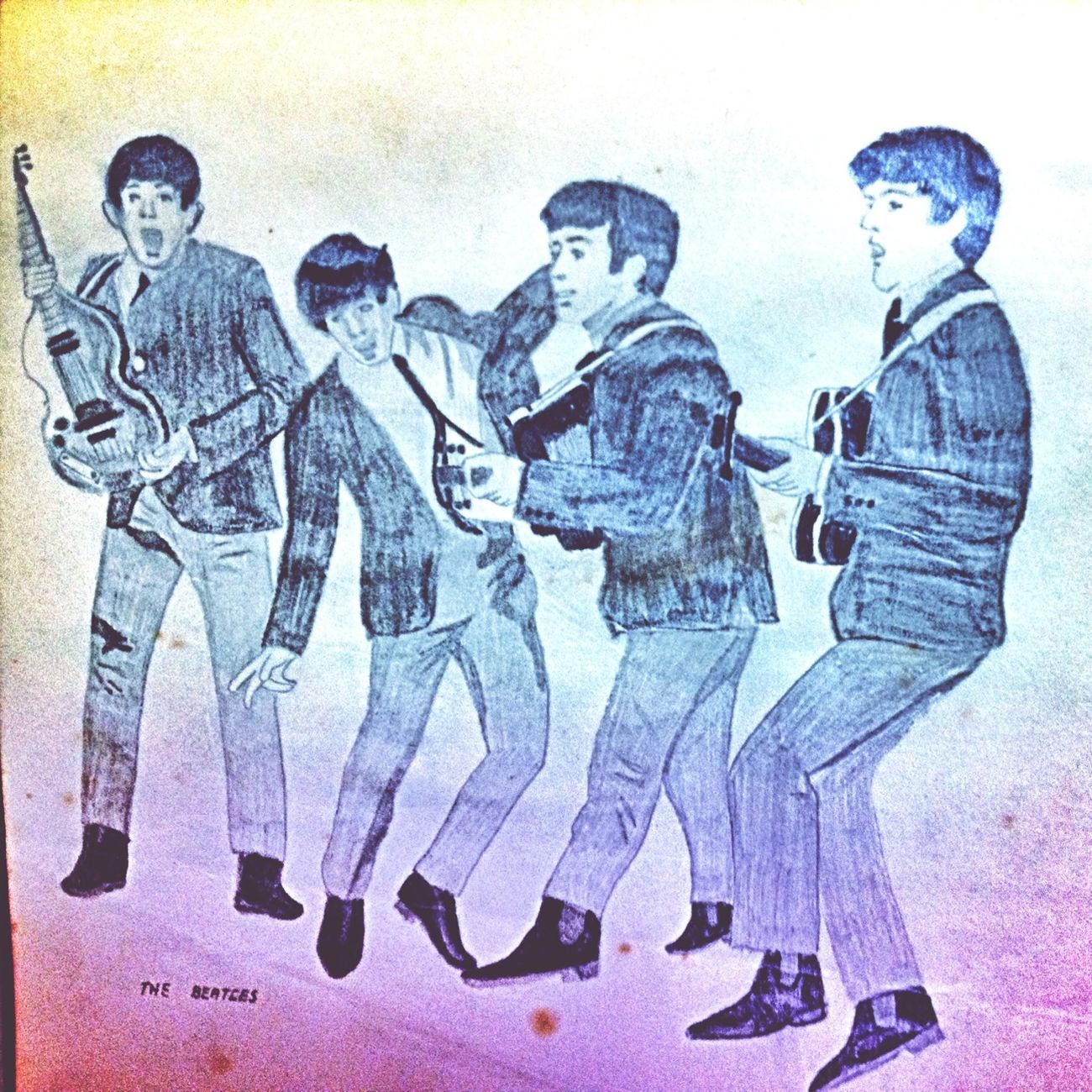 My 60s drawings My Drawing The Beatles Sixties Drawing