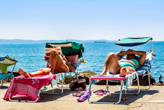 """""""People of Barcola"""" Barcola Blue Color Color Photography Day Italia Italy Outdoors People Project Real People Sea Streetphotography Style Summer Summertime Sun The Street Photographer - 2017 EyeEm Awards Trieste"""