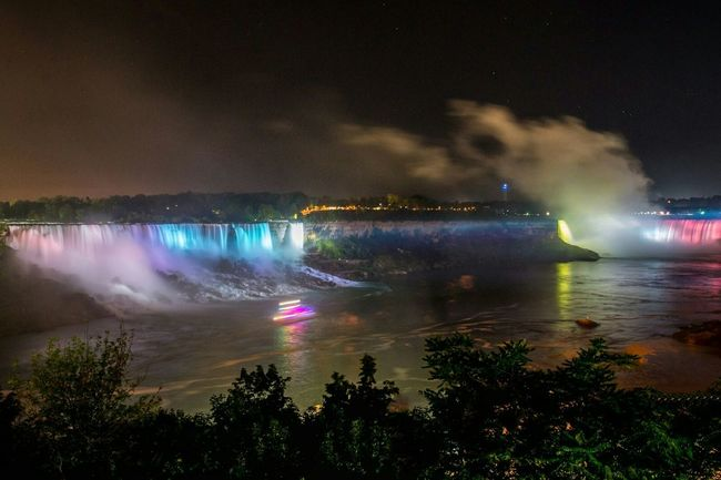 Niagra Falls Niagra Falls Ontario  Waterfall Water_collection Natgeotravel Huffpostgram HornblowerCruises Travel Photography Check This Out EyeEm Gallery Boats Long Exposure Nightphotography
