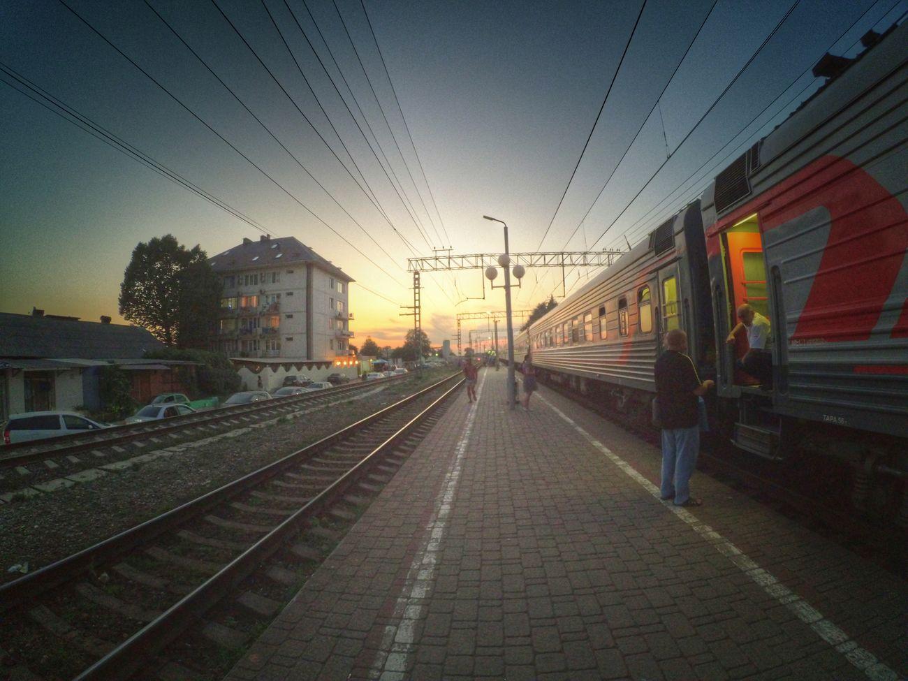 Sunset Summer2016 Train People Hello World Photography Xiaomi Yi Action Camera