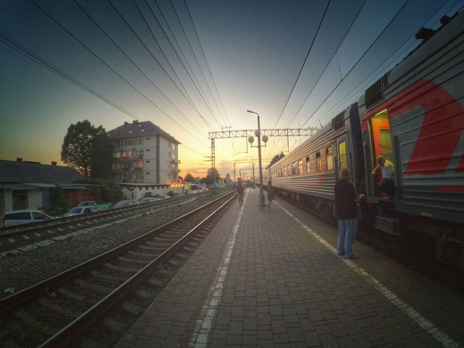 Sunset Summer2016 Train People Hello World Photography Xiaomi Yi Action Camera