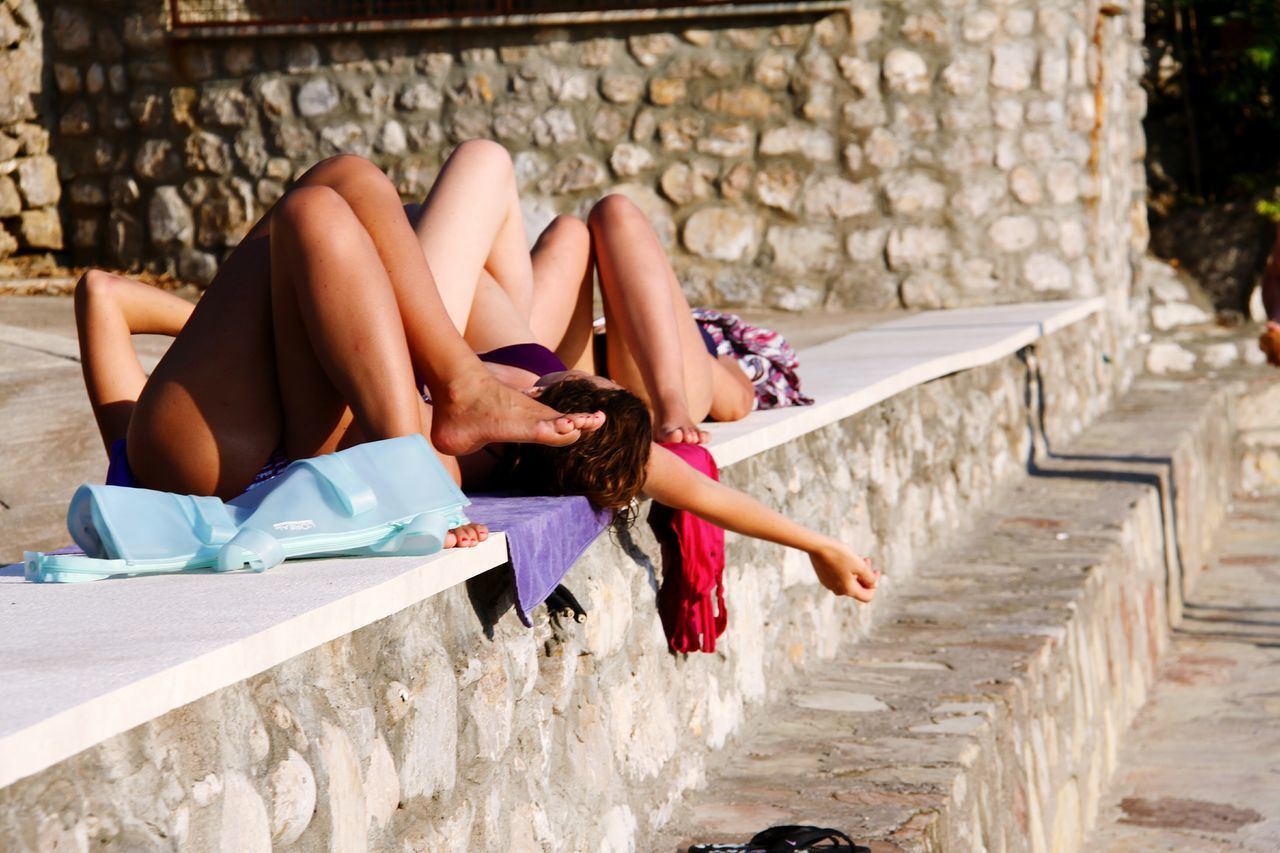 Youth Of Today Relaxing Urban Sunbath Young Summer Montenegro The Tourist People And Places