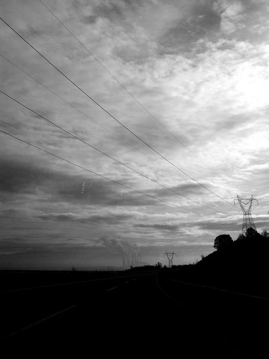 Atmosphere Atmospheric Mood Black & White Cloud - Sky Cloudy Electricity  Moody Sky Power Line  Landscapes With WhiteWall Here Belongs To Me Greece Ptolemaida