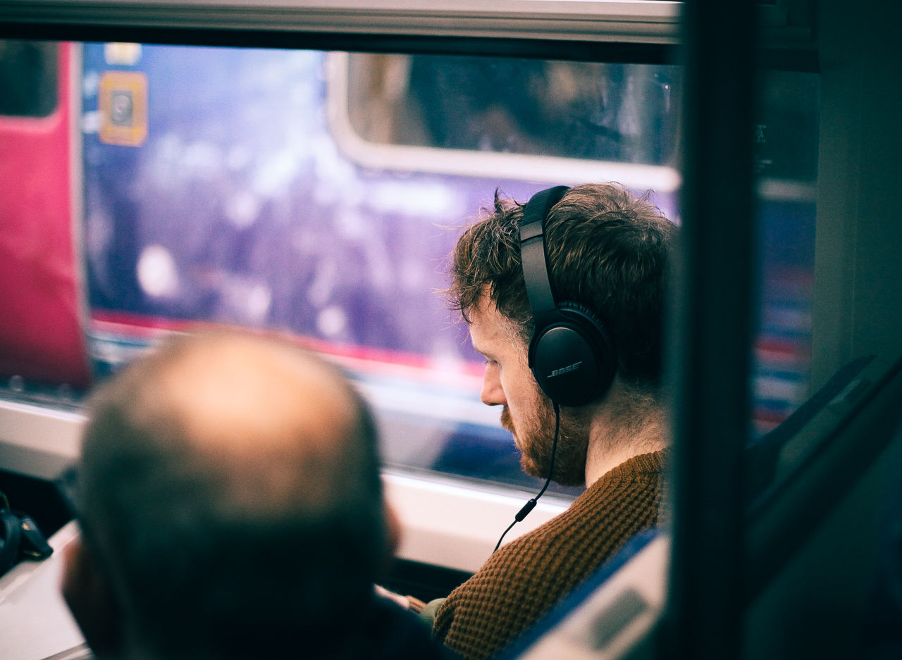Böse Carriage Commute Daydreaming Dreaming Headphone Headphones Journey Melody Men Morning Music Sitting Song Technology Thinking Train Train Station Transportation Travel Tune Vehicle Interior Wireless Wireless Technology Young Adult The Street Photographer - 2017 EyeEm Awards
