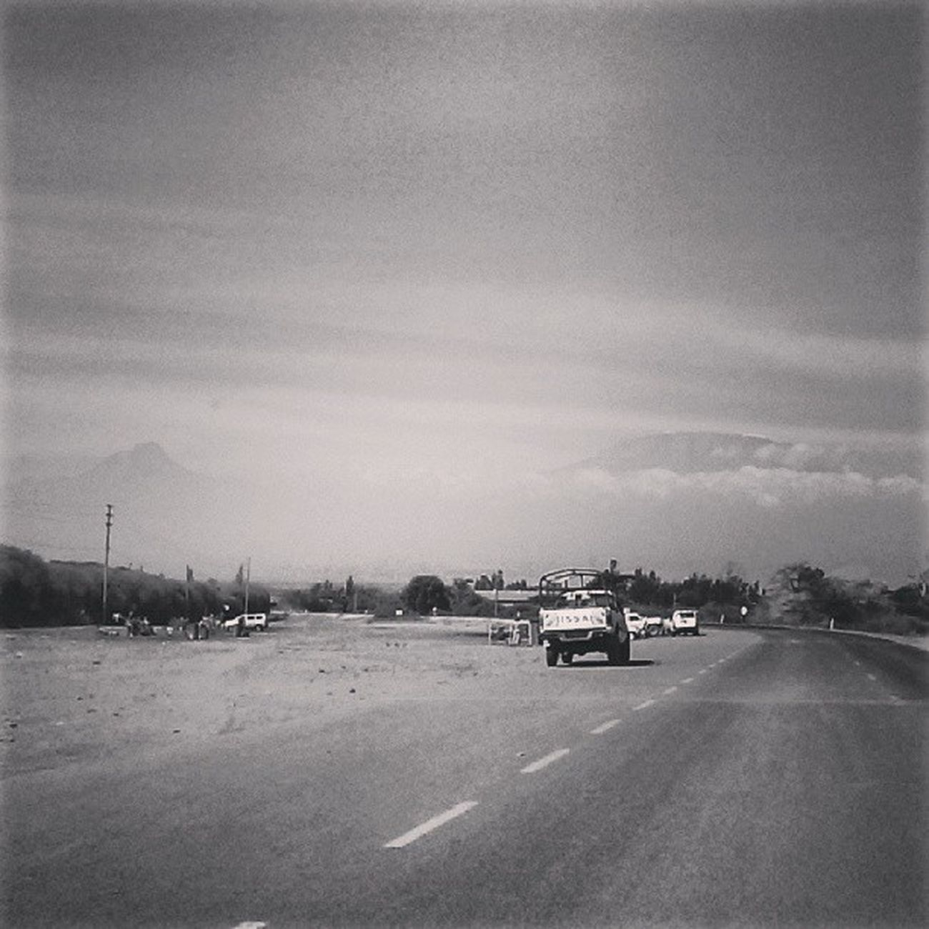 MtKilimanjaro Kenya FromNairobitoKilimanjaro Mountain roadtrip instacanvas webstagram statigram morning BW