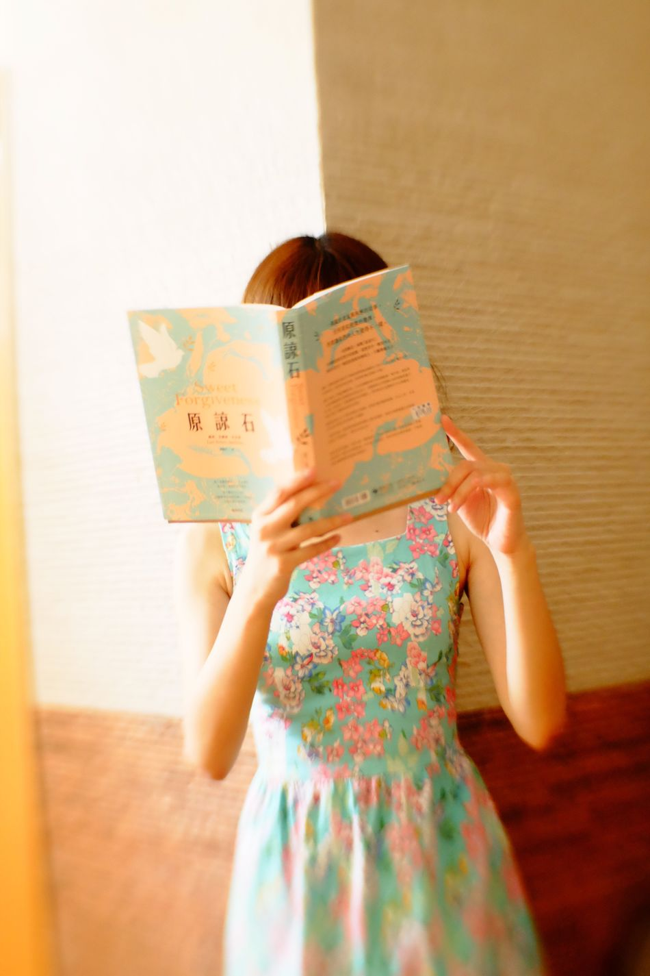 Indoors  Person Young Women Holding Young Adult Freshness Book Reading Sweet Forgiveness Lensbaby  Sweet 35 Optic Fujifilmxm1