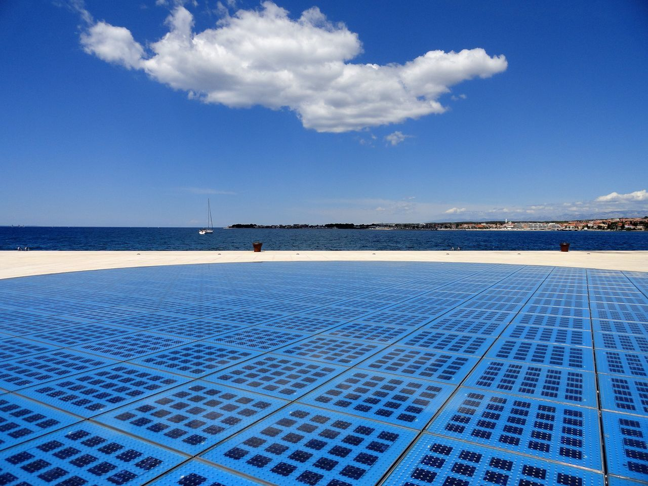 Pure Blue. Beauty In Nature Blue Cloud Cloud - Sky Croatia Day Idyllic Leisure Activity Lifestyles Nature Outdoors Scenics Sea Sky Solar Sunny Tourism Tourist Attraction  Tranquil Scene Tranquility Travel Destinations Vacations Water Zadar Color Palette
