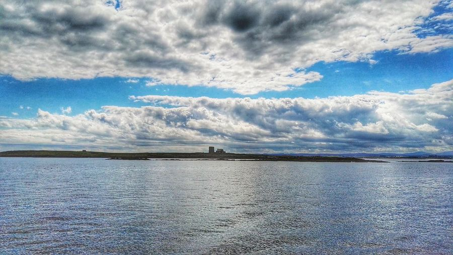 Looking Out To Sea. Farne Islands On A Boat! Daytripping Sea And Sky Seascape Clouds And Sky Lighthouse