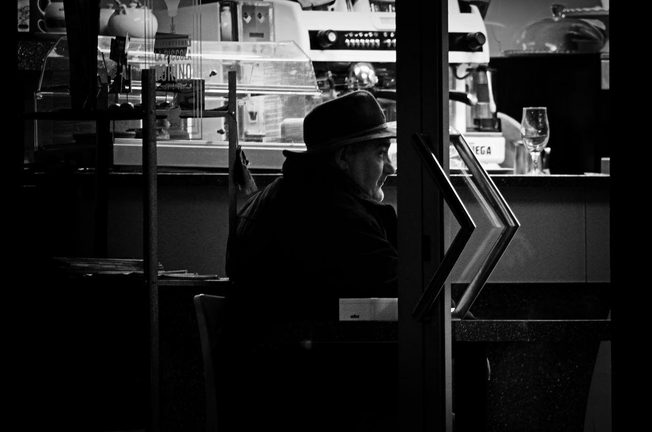 Bar Black Black & White Black And Light Black And White Black And White Collection  Black And White Photography Black&white Blackandwhite Blackandwhite Photography Blackandwhitephotography Blacknwhite Blackwhite Customer  Customer Bar Indoors  Leisure Activity Men Sitting Solitary Solitude