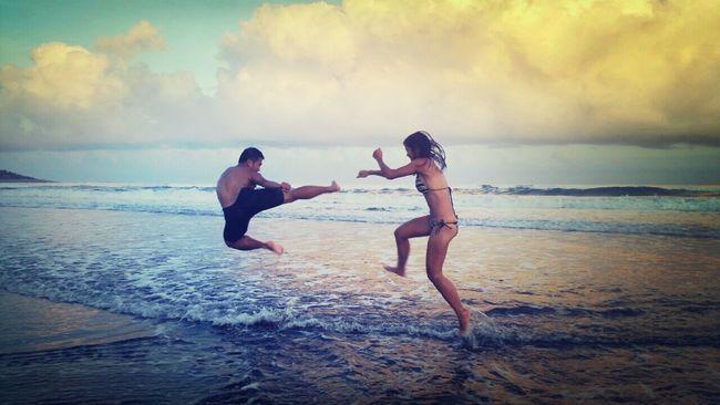 只要有心 在哪都能練功夫 Life Is A Beach Water Reflections Feel The Journey Original Experiences