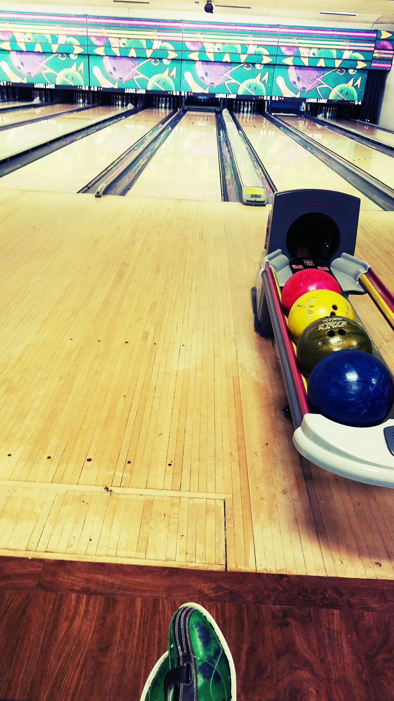 Sport Day Indoors  No People First Eyeem Photo Bowling Bowling Alley Bowling Shoes Color Vibrant Color
