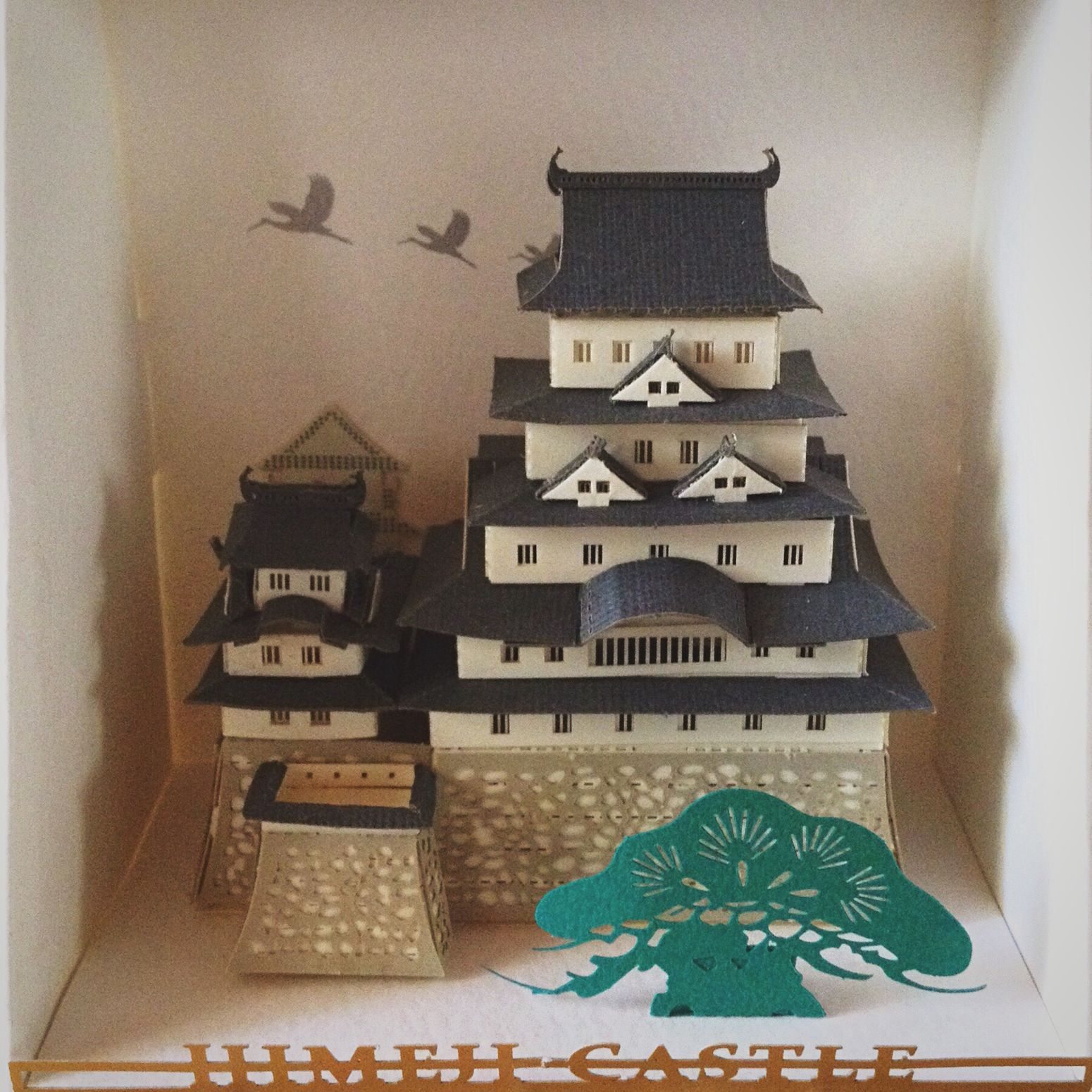 Paper Art Paper Papercraft Himeji Castle Japanese Architecture Japanese Paper Folding Old-fashioned Art And Craft Lieblingsteil