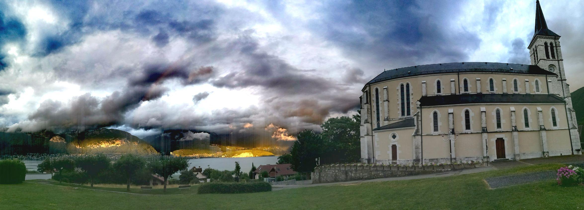 France Sévrier Church Eglise Worldplaces Worldpictures Hautesavoie Landscape Paysage Lac Lake Lake View Ilakeannecy Annecy