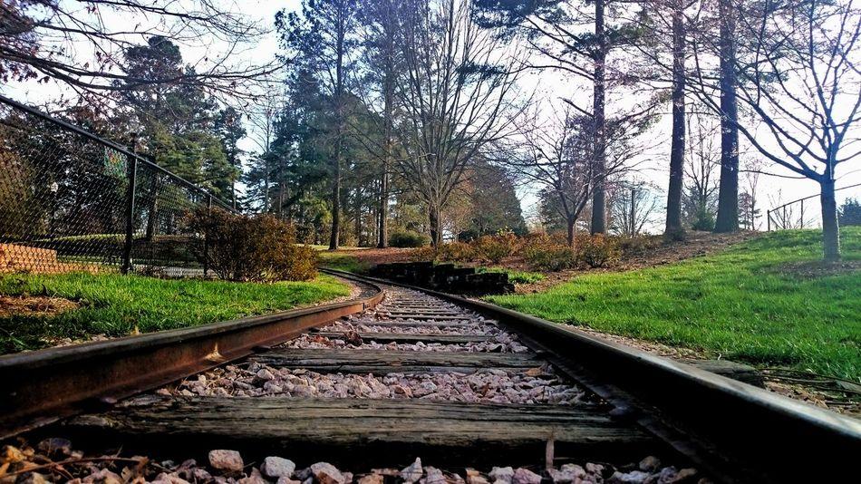 Railroads tracks at Village Park, Kannapolis,NC Railroad Track Rail Transportation Transportation Beauty In Nature Outdoors Traintracks Village Park Kannapolis, Nc EyeEmNewHere