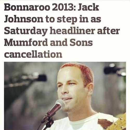 Oh you know... Omgee !!! Jackjohnson Bonnaroo Happy Stoked Bonerific