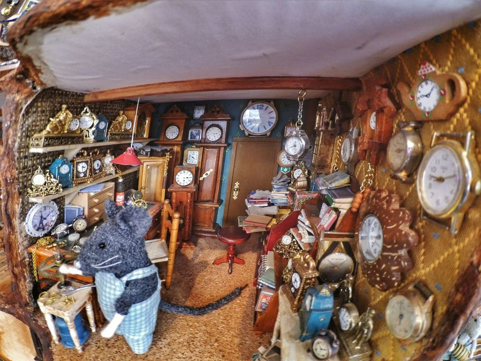 A secret place The Secret Spaces No People Indoors  Mouse House Living Room Games Toys Miniature Plastic Diorama Clock Colorful Fantasy Details Fisheye Day Internal Home Owner Animal Peluche Childhood Forever Forever Young