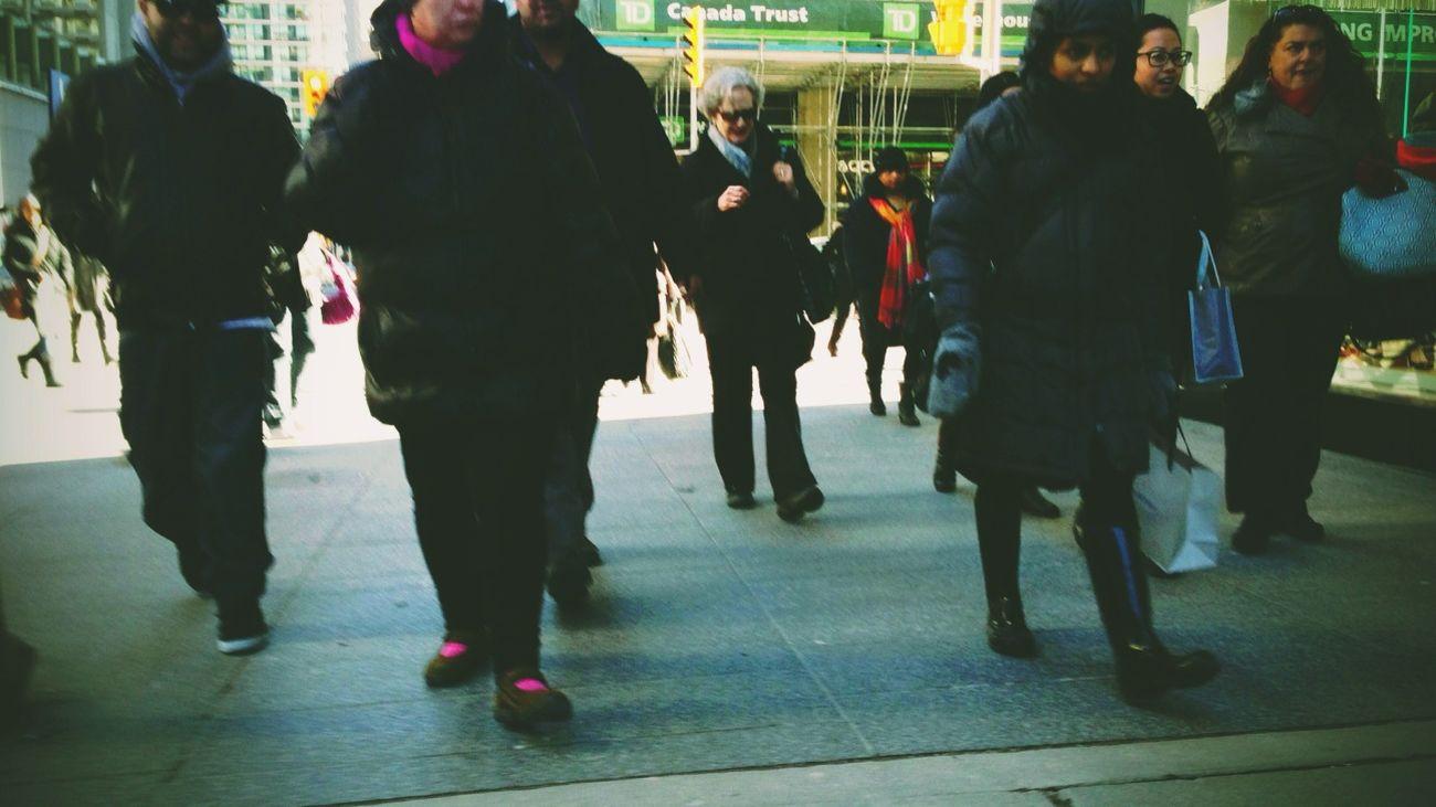 on bay I saw you comin.. Toronto Crowds Bay Street Snapshots Work Day Madness