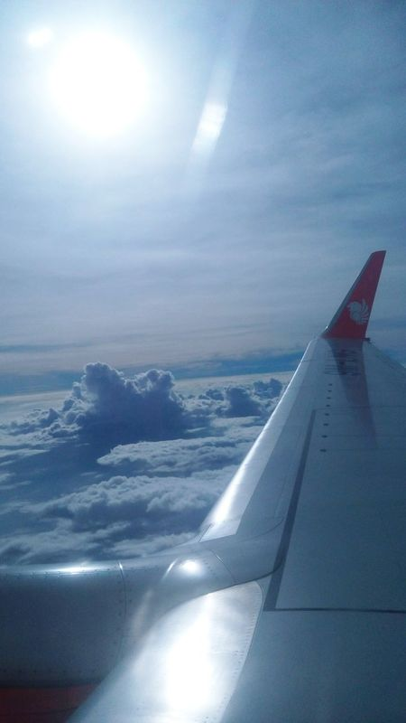i wish i could touch that cloud.. it was so beautiful ☁☀✈ KLIA 2 Penang Malaysia Malindo Airlines