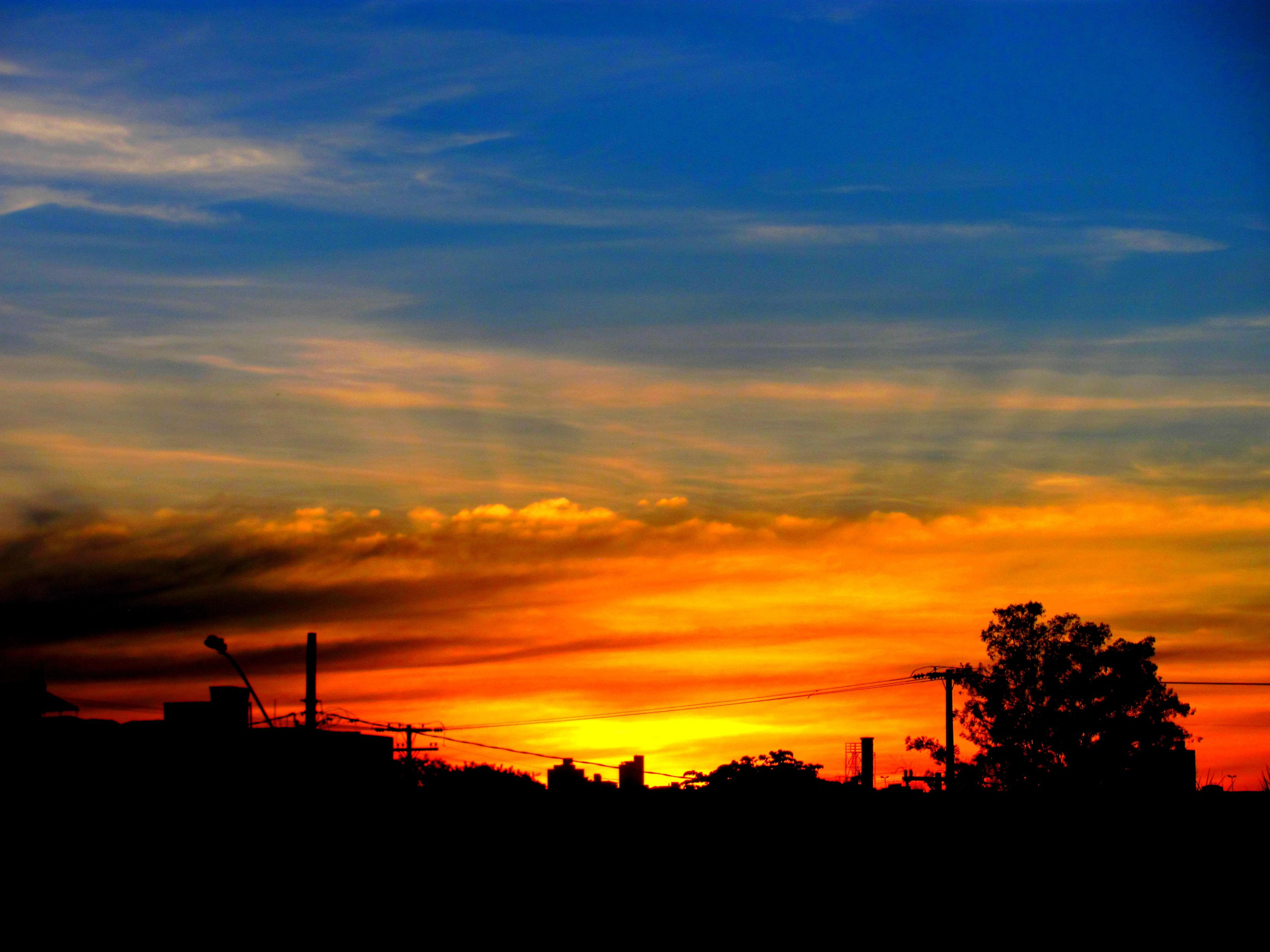 sunset, silhouette, sky, orange color, cloud - sky, architecture, built structure, nature, building exterior, tree, outdoors, no people, beauty in nature, scenics, day