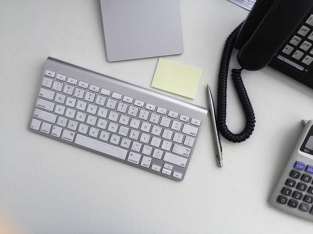 Background Blank Business Calculator Design Desk
