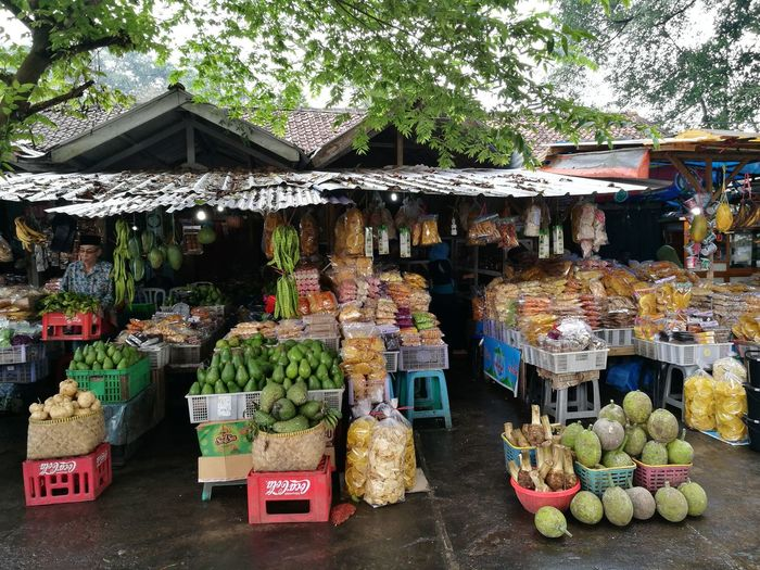 Traditional market at cibulan