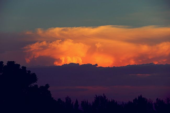A cloudscape within a sunset. Clouds And Sky Sunset Cloudography Coincidencetography