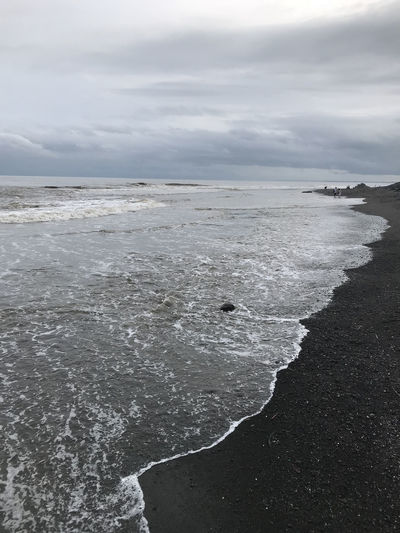 Bali, Indonesia Beach Beauty In Nature Black Sand Day Horizon Over Water Nature No People Outdoors Scenics Sea Sky Tranquility Water Wave