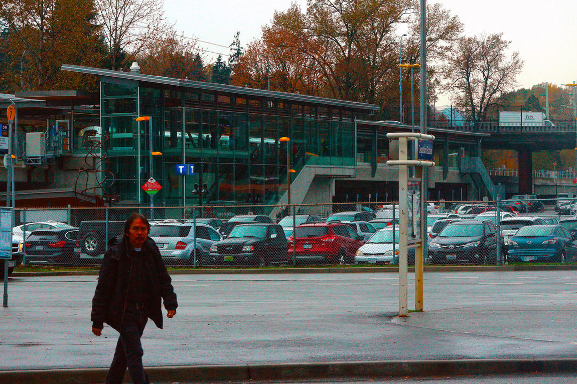 Coquitlam Central Skytrain station Coquitlam B.C. Canada. City Life One Person Architecture City Outdoors Transportation Canada B.C Coquitlam Real People