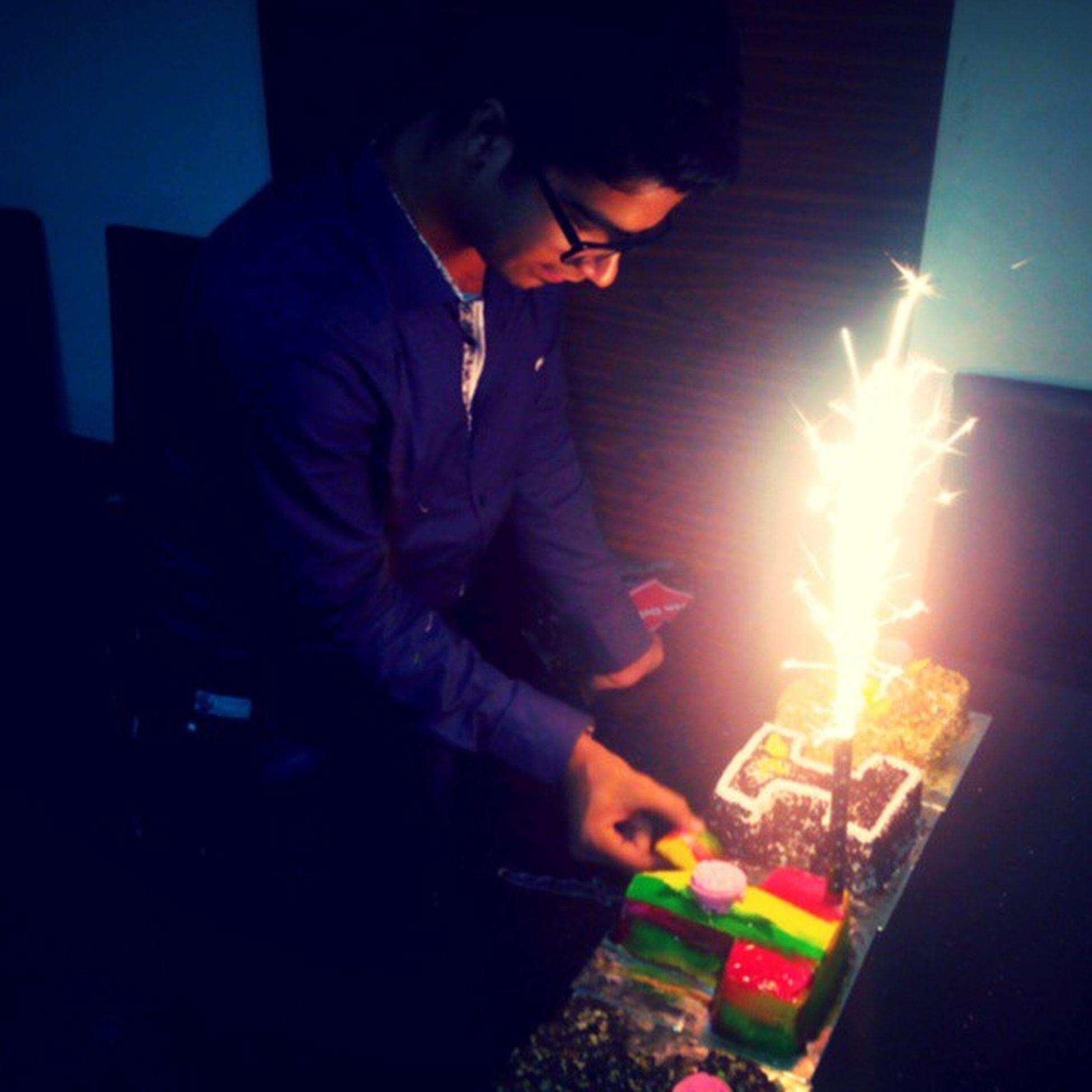 Birthday Cake Celebration CakeCutting Specialday  Enjoyed Mostamazingcake