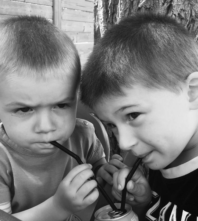 Sharing drink brother Children First Eyeem Photo Sharing  Brothers Drink