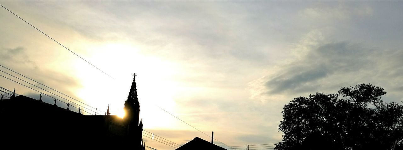 Sunset Sky Low Angle View Cloud - Sky No People Silhouette Outdoors Travel Destinations City Building Exterior Built Structure Nature Tree Beauty In Nature Architecture Day iglesia de coronado