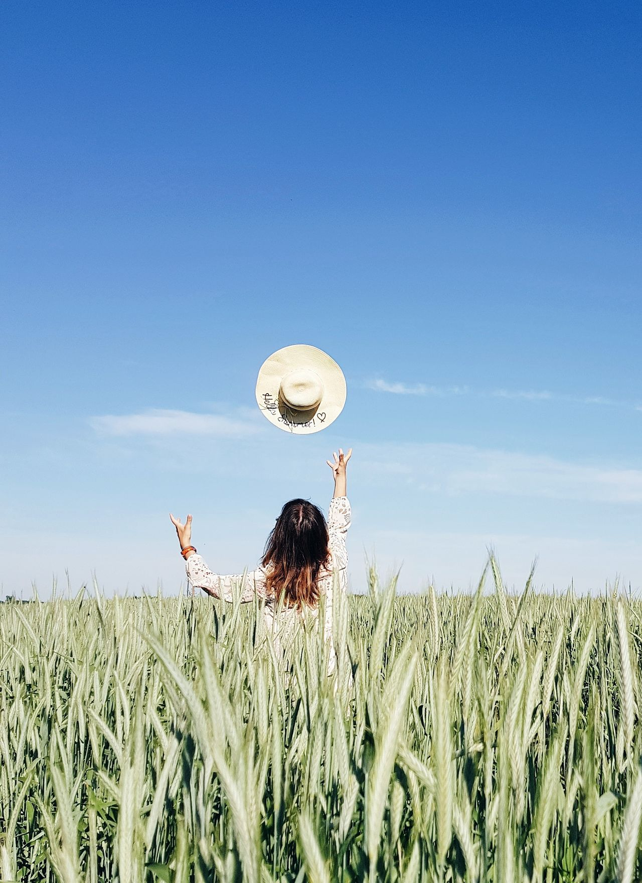 Live For The Story Crop  Agriculture Field Growth Cereal Plant Sky Rural Scene Abundance Plant Nature Adult Day People Blue Outdoors Standing Wheat Adults Only Human Body Part Clear Sky EyeEm Best Shots The Great Outdoors - 2017 EyeEm Awards Eye4photography  Only Women