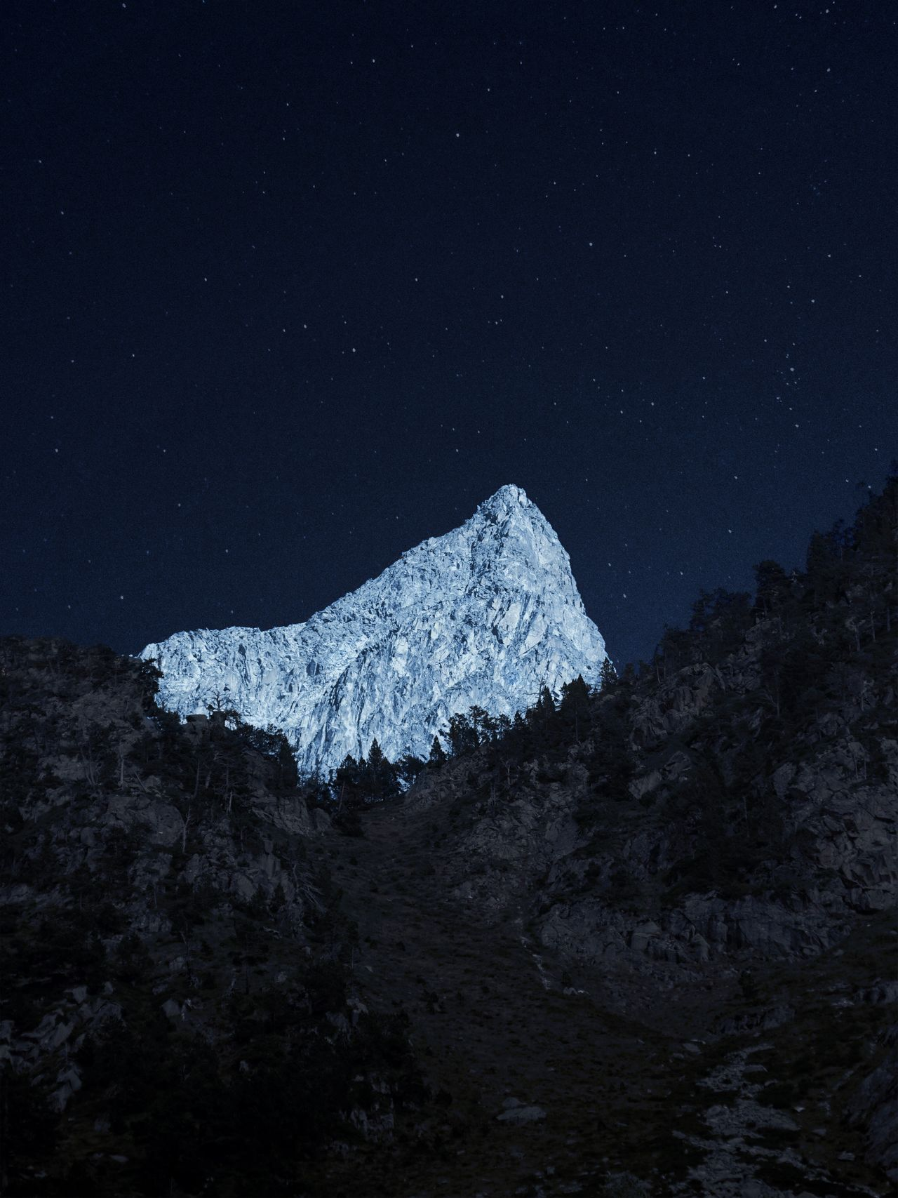 mountain mountains night Nightphotography moonlight beauty in Nature Nature cold temperature outdoors landscape astronomy EyeEmBestPics Empty Places EyeEm Best Edits TheWeekOnEyeEM Night Photography EyeEm Best Shots