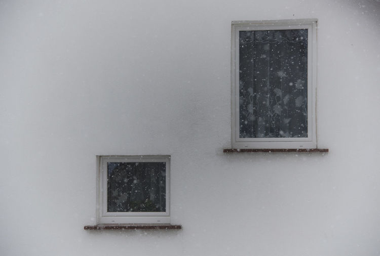 Abstract Building Exterior Czerwiensk Day No People Poland Rectangle Snow Window Winter