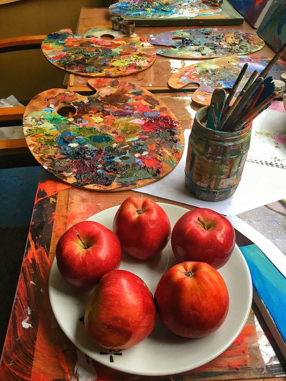 Apples & Art Table Food