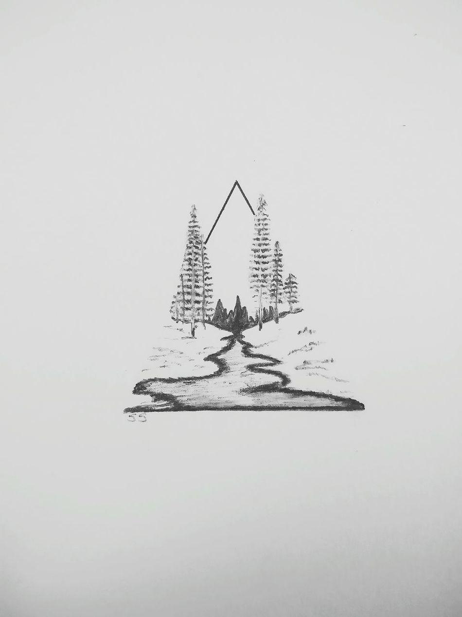 Selfmade Artwork Selfmade Sketchbook Sketch Sketching EyeEm Gallery EyeEm The Week On Eyem Stream Trees